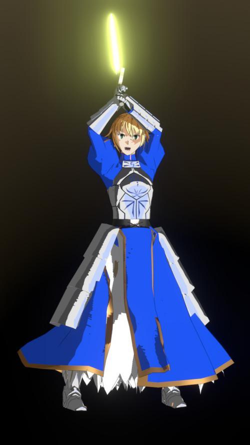 Fateセイバー 3Dモデル